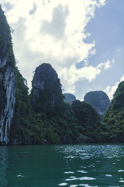 Beauty In Nature Day Mountain Nature No People Outdoors Rock - Object Rock Formation Scenics Sea Sky Tranquil Scene Tranquility Vietnam Halong Bay Water Waterfront
