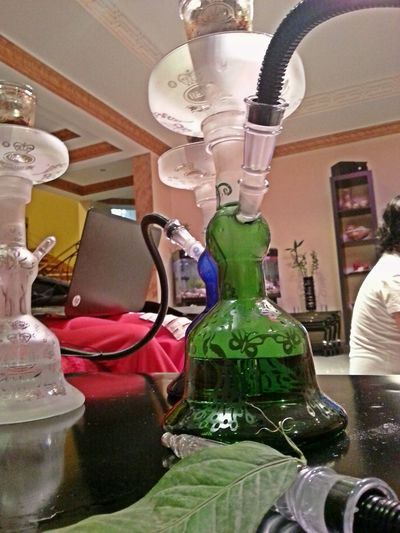 Hookah My New Green Glass Hookah