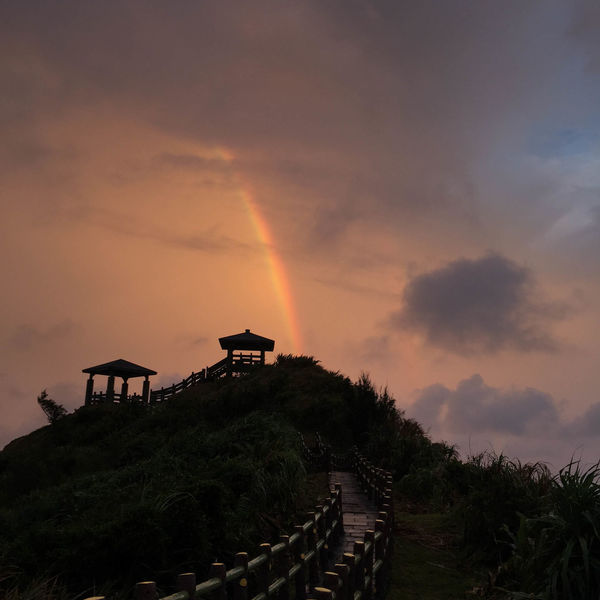 Taiwan Architecture Beauty In Nature Building Exterior Built Structure Cloud - Sky Day Greenisland Nature No People Outdoors Rainbow Scenics Sky Sunset Tree