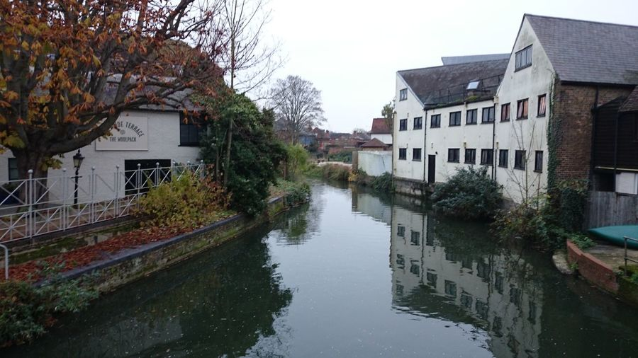 River Hertford Water Reflections Atmospheric