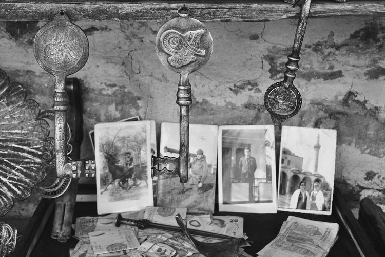 Taking Photos Eyem Best Shots Once Upon A Time Antique Old Photos With History Old Keys Black & White Black