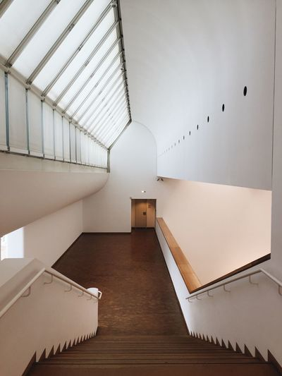 Staircase in modern building