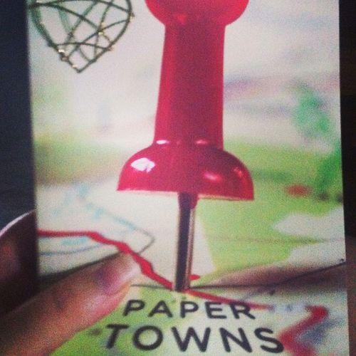 Today's read 100booksin365dayschallenge Papertowns Johngreen Novel book paperback