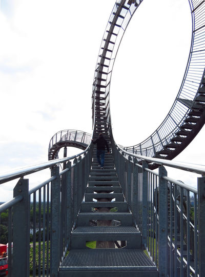 Ascending Challenge Accepted Defiance Duisburg Magic Mountain Rollercoaster Ruhrgebiet Stairs Steps Tiger And Turtle – Magic Mountain Your Ticket To Europe Architecture Art Built Structure Challenge Complexity Dare One Person Sky Staircase Stairway To Heaven Stairways Steps And Staircases Tiger And Turtle Upstairs