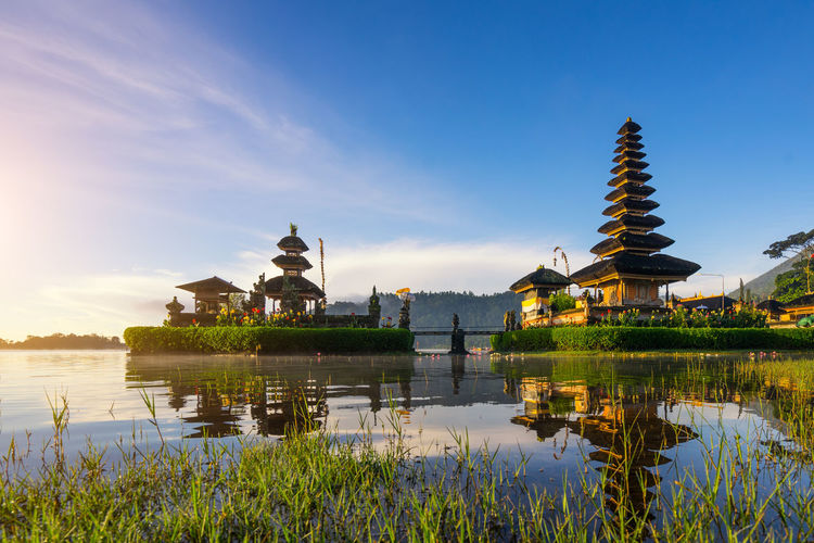 Architecture Bali, Indonesia Beautiful Morning At Bali Lake Beratan Temple - Bali, Indonesia Beauty In Nature Building Exterior Built Structure Day History Lake Nature No People Outdoors Place Of Worship Reflection Religion Sky Spirituality Tranquil Scene Tranquility Travel Travel Destinations Water Waterfront