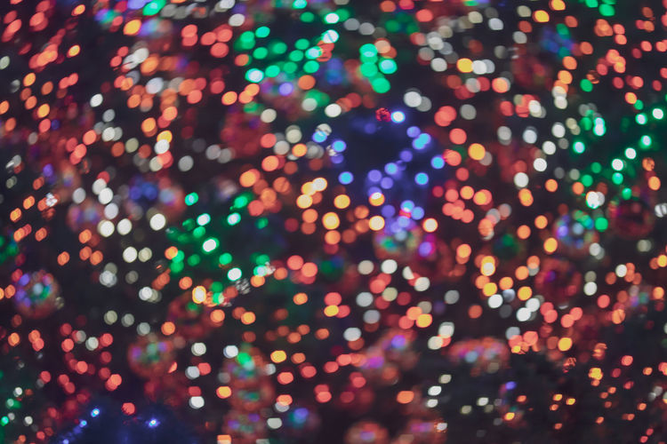 Full Frame Shot Of Defocused Illuminated Lights