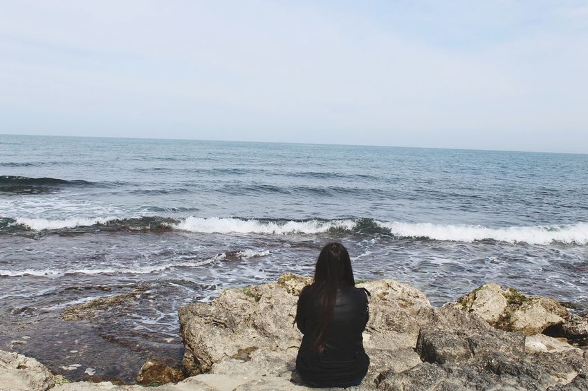 The girl and the sea ~ Sea Beach Horizon Over Water Only Women One Woman Only Women Scenics One Person Water Adult Beauty In Nature Nature Adults Only Sky Outdoors People One Young Woman Only Day Wave March 2017 Bari Nature Vacation Time Spring