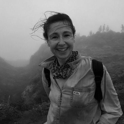 Escalader la Soufrière en Guadeloupe IPhoneography Smiling Portrait Front View Happiness Emotion Nature Mountain