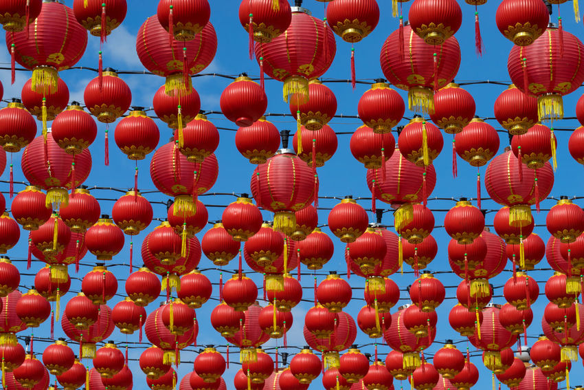 KUALA LUMPUR, MALAYSIA - 22TH JANUARY 2017: Traditional Chinese lanterns display during Chinese new year festival at Thean Hou Temple in Kuala Lumpur, Malaysia Blue Sky Chinese New Year Dragon Hanging Heritage Holiday Kuala Lumpur Malaysia  Lantern Festival Light Lion Dance Moon Cake Old Buildings Paper Peaceful Pray Prosperity Red Religion Sfera Thean Hou Temple (天后宫) Tourism Tradition Traditional Tranqulity Travel Destinations