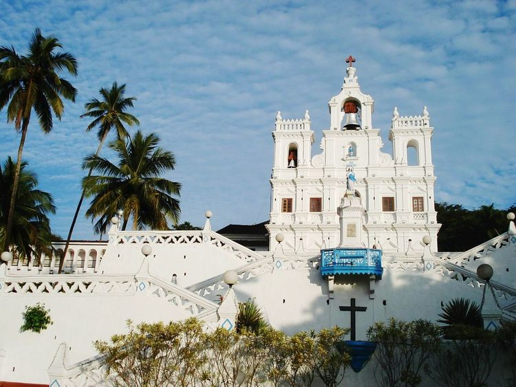 Church Goa India Amitabhkashyap White White Church Religious Place Sky Clouds And Sky White Album No People Studies Of Whiteness Nopeople Savior God Christianity Place Of Worship Religion And Beliefs Religious Architecture