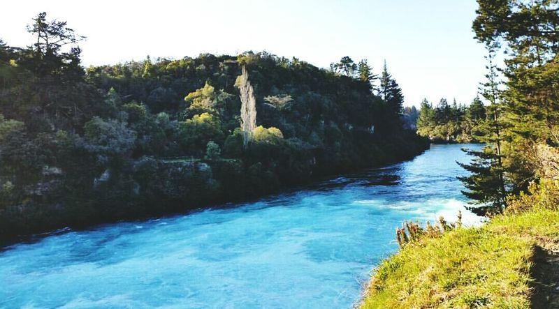 Huka Falls New Zealand Sky New Zealand Scenery Travels