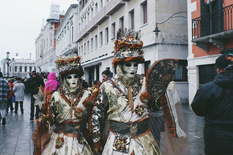 Adult Adults Only Architecture Art Culture And Entertainment Building Exterior Built Structure Celebration City Costume Large Group Of People Leisure Activity Mask - Disguise Men Outdoors People Real People Street Street Life Venetian Mask Women Art Is Everywhere BYOPaper! Live For The Story Tourism