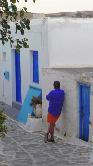 Architecture Blue Blue And White Cinematic Style Cinematographic Scenery Clean And Neat Cycladic Architecture Greece Mediterranean Lifestyle Mediterranean Light Outdoors