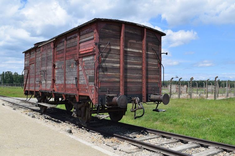 Train Tracks Old Cart Old Aushwitz Rustic