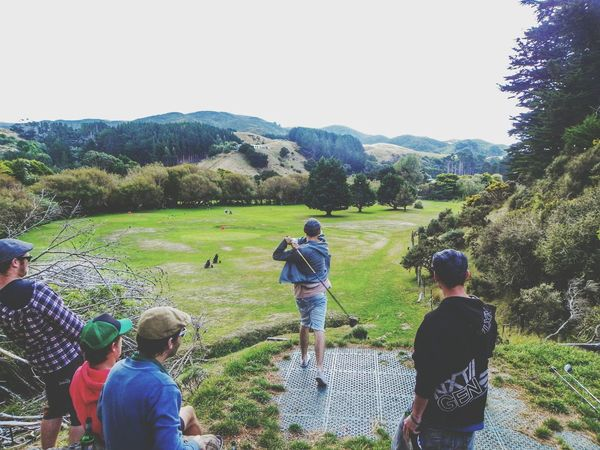 Golfing with the mates in the hills of Wellington, New Zealand. Golf Golfcourse Relaxing Mountains Hills And Valleys Green Treescollection Teeoff Wanderlust Friends Hanging Out Funtimes Postcards PureJoy Showcase: January
