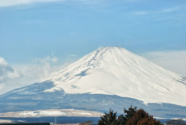 02.2008 Mount FuJi Gotenba Gotemba Shizuoka Japan Winter Morning Mountains And Sky Blue Sky