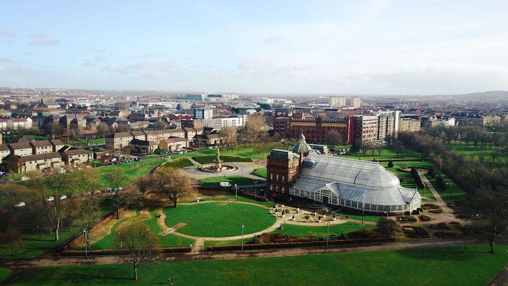 Architecture City Cityscape High Angle View Aerial View Outdoors Day Scotland Peoplespalace Park Dji Drone  Dronephotography Djimavic