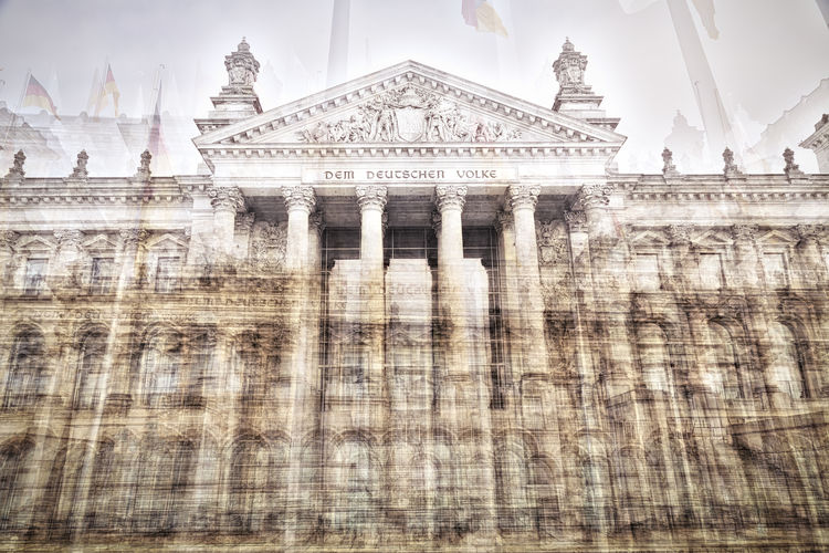 Double exposure Reichstag Berlin Architectural Column Architecture Berlin Building Exterior Culture Double Exposure Façade Historic History International Landmark Outdoors Reichstag Tourism Travel Destinations