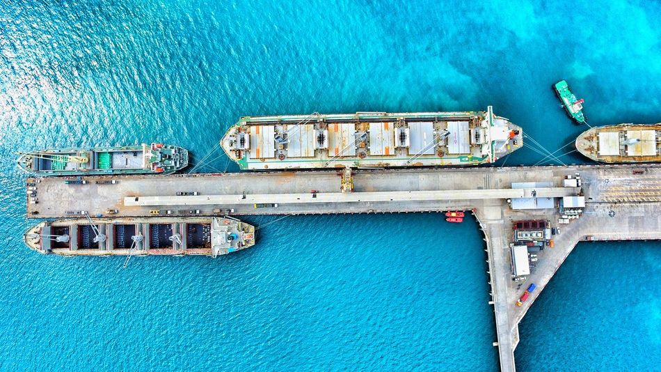 Flying High Export Operation Bulkcarrier Shipping  Shipping  Shipping  Nature Warehouse Planner Cargo Container Water No People Alongside Berth Logistics Shipping  Shipping  Sea Industry Contsiner Day Mode Of Transport Transportation High Angle View