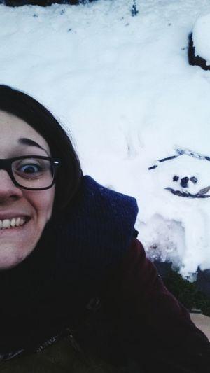 Everyday Joy the joy of making a snowman! Snowman Winter Is Still Here Folks!