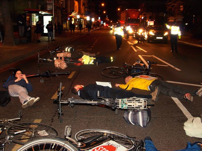 Stop Killing Cyclists. Vigil +Die-In. To honour cyclist killed by a heavy goods vehicle on Pentonville Road. Islington Town Hall. Upper Street. Islington. 08/11/2017 Steve Merrick London Cycling Campain Politics And Government Stevesevilempire Stop Killing Cyclists Protestor Cyclist Protest London News Olympus Cyclists Protest Islington Zuiko Cycling London Vigil