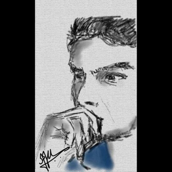 A sketch made by a frnd on xperia phone, Sketch Yeaaah  Dats Me