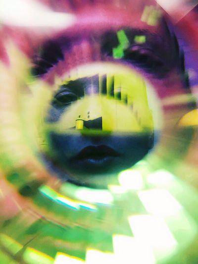Self Portrait Portrait Female Iphonography Iphoneonly Colorful Color Explosion Colorcat Prismacolor Prisma Prisma Art Split Center Future Vision Futurephotographer Futuric Color Range Circle Circle Frame Colorflash Vision Rainbow