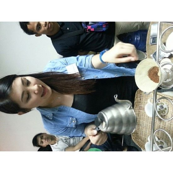 Your pour over master for today. HAHAHA Pourover Barista Training