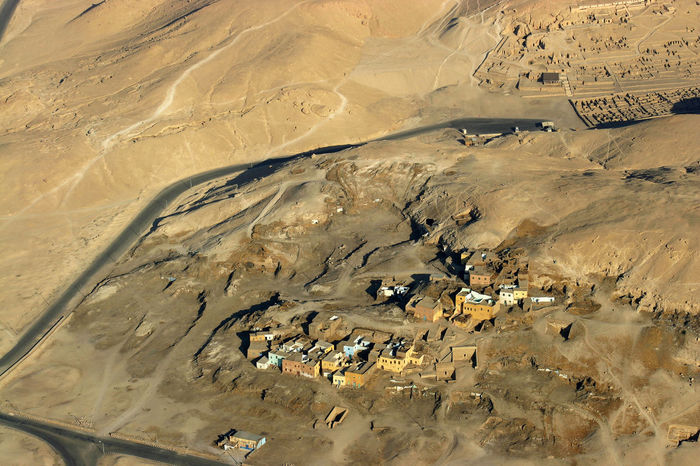 West bank village aerial Luxor Aerial Photography Aerial View Ancient Civilization Landscape No People Outdoors Scenics Village Houses West Bank Luxor
