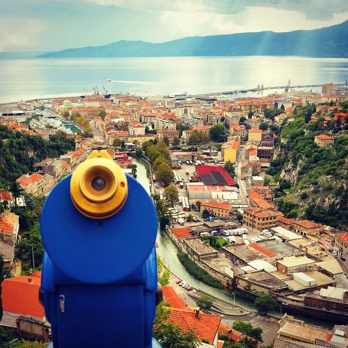 Rijeka Trsat Looking To The Other Side TOWNSCAPE Rooftop Old Town Town Residential Structure Bell Tower Place Calm Coast Shore Horizon Over Water Residential District Exterior Roof Wave Roof Tile Tiled Roof  House Townhouse Canal Alley