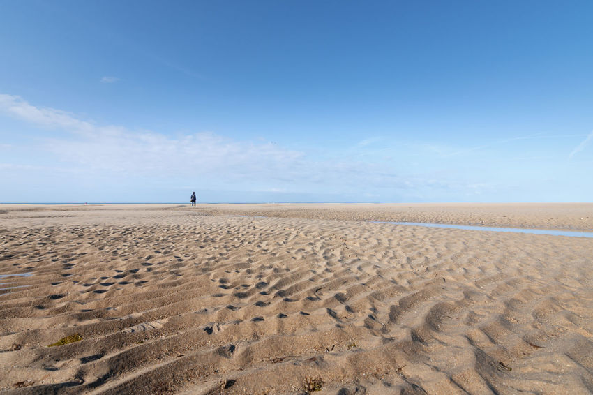 Arid Climate Beach Beauty In Nature Blue Cloud - Sky Day Desert France Horizon Horizon Over Land Landscape Nature No People Normandie Normandy Outdoors Portbail Sand Sand Dune Scenics Sea Sky Travel Destinations