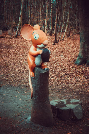 Day Forest Forest Walk Gruffalo Gruffalo Trail Lots Of Leaves Mouse Sculpture Nature No People Outdoors Sculpture Trees Wooden Mouse WoodLand