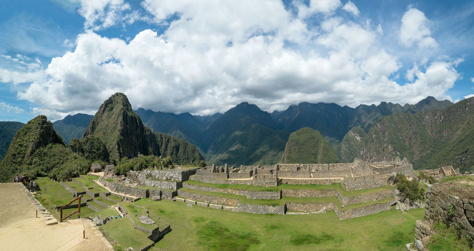 Machu Picchu Cloud - Sky Sky Mountain History Scenics - Nature The Past Travel Destinations Architecture Ancient Civilization Beauty In Nature Old Ruin Tranquil Scene Archaeology Ruined Mountain Range Travel Nature Travel Machu Picchu Peru Peruvian Heritage Heritage Site Ancient Outdoors