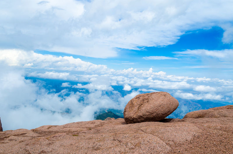 Beauty In Nature Blue Calm Cloud Cloud - Sky Cloudscape Countryside Day Geology Landscape Majestic Mountain Nature Non-urban Scene Outdoors Pikes Peak Summit Remote Scenics Sky Solitude Summer Surface Level Tranquil Scene Tranquility Vacations