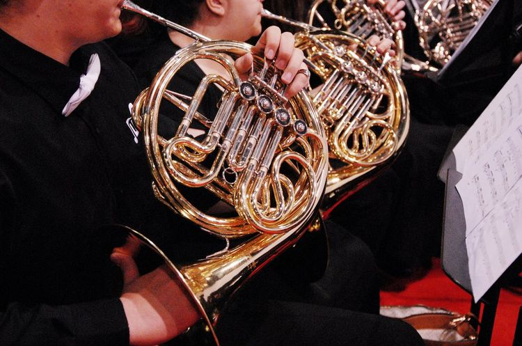 Music Musicians Playing Music French Horn Graduation Ceremony