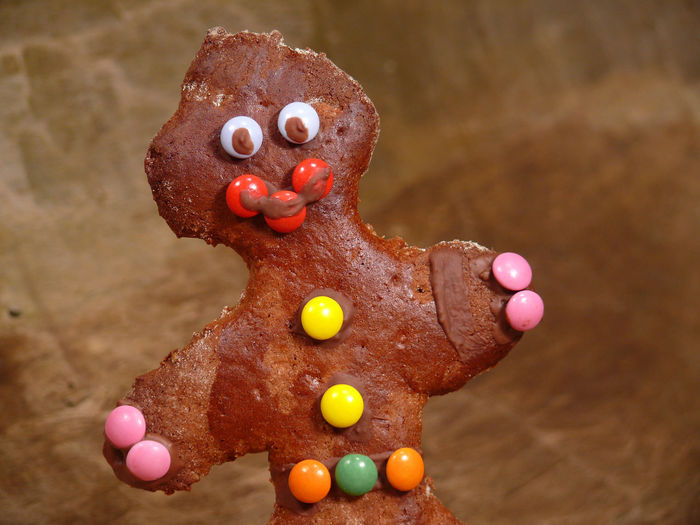 Close-up of gingerbread cookie