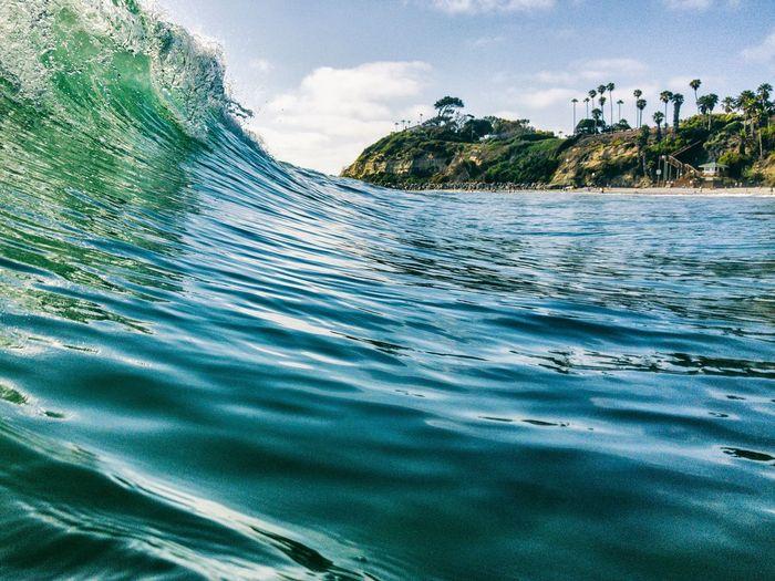 Body surfing at swamis beach in encinitas, san diego, california