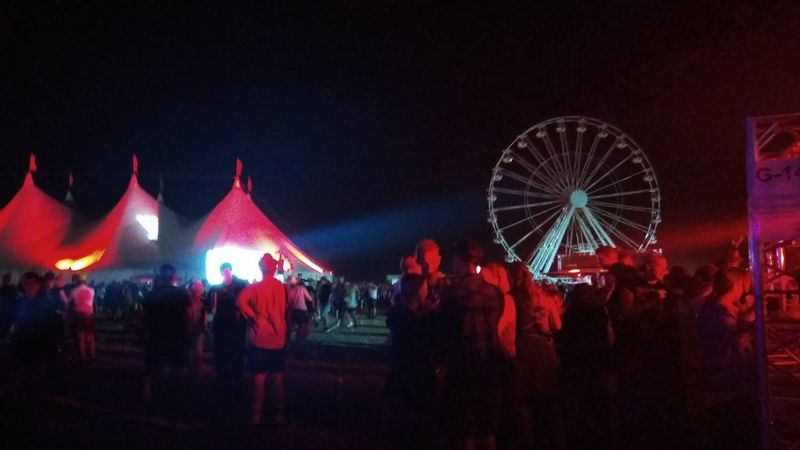 Southside Festival Southside 2017 Festival Tents Ferris Wheel Concerts Arts Culture And Entertainment Large Group Of People Night Ferris Wheel Red Illuminated Nightlife People Outdoors Crowd Sky Adult Adults Only Let's Go. Together. Your Ticket To Europe