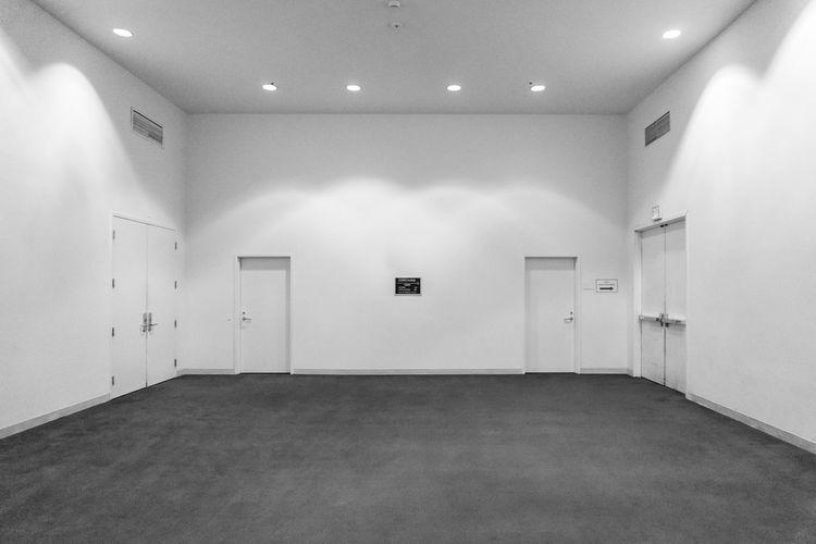 Absence Ceiling Corridor Diminishing Perspective Empty Flooring Illuminated Interior Lighting Equipment Modern No People The Way Forward Tile
