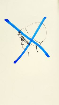Leadership. Drawing Very Bad Blue Cross Blue