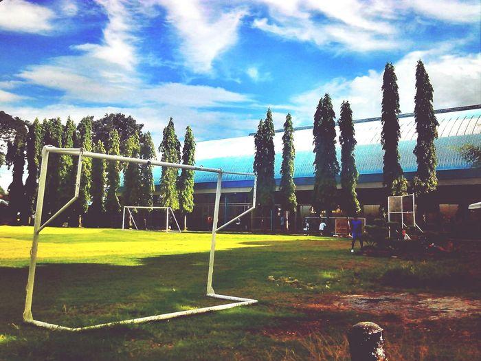 Soccer field Taking Photos Hello World