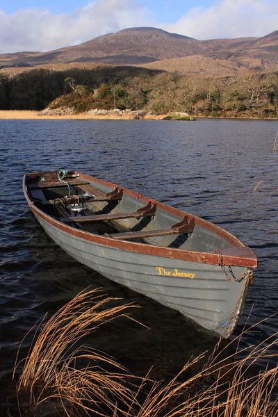 Lakes Of Killarney, Co, Kerry, Ireland. Boat. Nautical Vessel Lake Outdoors Landscape No People Nature Water Mountain Sky Day