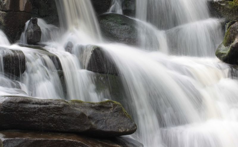 Day Man Made Structure No People Outdoors Peaceful Rock - Object Scenic Shutter Speed Waterfall