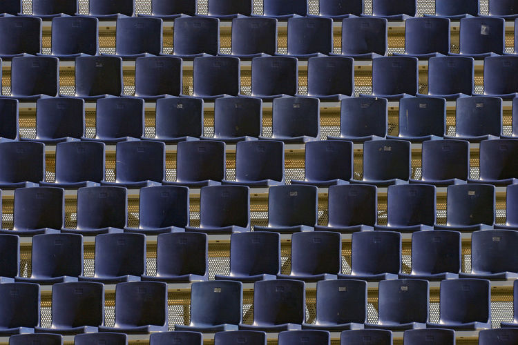 The power of repetition Abundance Arrangement Backgrounds Close-up Day Detail Full Frame In A Row Large Group Of Objects No People Repetition Repetto Side By Side Sports Arena Sports Photography Sport Time Sports Event  Bucket Seat