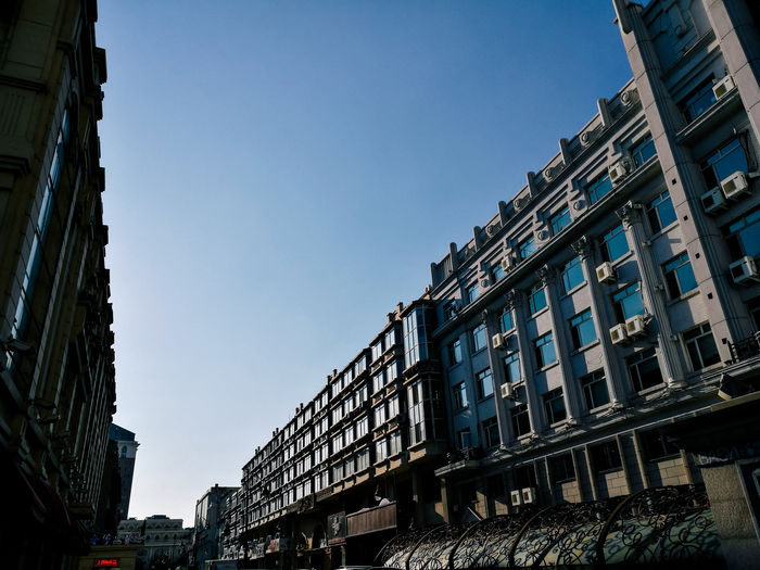 Architectural Feature Architecture Building Exterior Buildings & Sky Built Structure City City Life Clear Sky Harbin Low Angle View