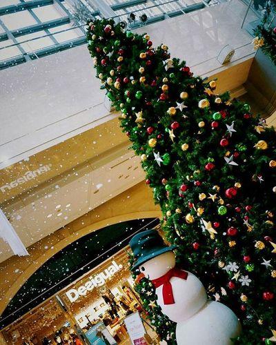 雪 かとおもったら泡 だった(笑) クリスマスツリー 😚 Japan OSAKA Umeda Xmastree Snow Fake Snowmam Desigual Beautiful F4F 大阪 梅田 ディアモール すごい