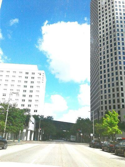 Cloud - Sky Cityscape No People Building Exterior Outdoors Road Tree Day Skyscraper Sky City Architecture Modern HoustonTX
