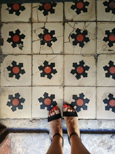 Flowers Floor Tile Floor Tiles Floor Design TilesOfInstagram Portugaldenorteaosul Portugal Oficial Fotos Colection EyeEm© Portuguese Pavement Portuguese Tiles Architecture Portuguese Houses Portuguese Tiles  The Floor I Walk