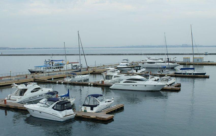 Archive 2015  Ukraine City Odessa Tourism Photo Canon Sea Tranquility Boat No People Landscape Black Sea