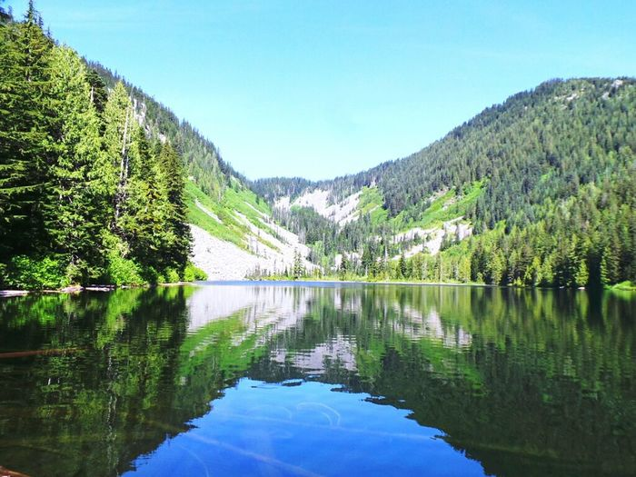 Lake Serene, and it was Lake Blues And Greens Water Reflections Mirror Image Nature Hikingadventures EyeEm Nature Lover Summer Mountains Enjoying The View Nature_collection CalmGreen Blue Beautiful Nature Peaceful Reflections Mountain_collection